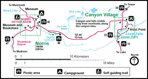 Norris Geyser Basin to Canyon Village Route | Scenic spots t… | Flickr