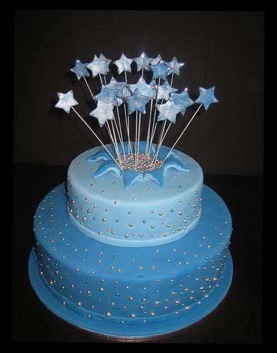 Balloon Exploding Birthday Cake