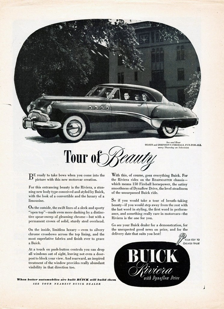 Image result for 1949 buick riviera advertisement