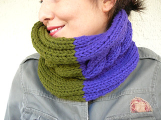 Hat And Cowl - Indigo / Green | by atolye afra