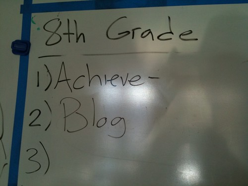 Actual photo of an 8th Grade whiteboard: | by Brett L.