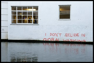 Banksy - 'I don't believe in Global Warming' Closer | by Romany WG
