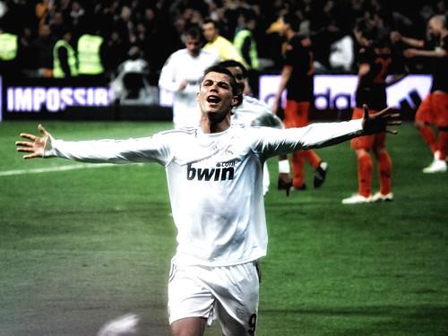 Cristiano Ronaldo tras el gol
