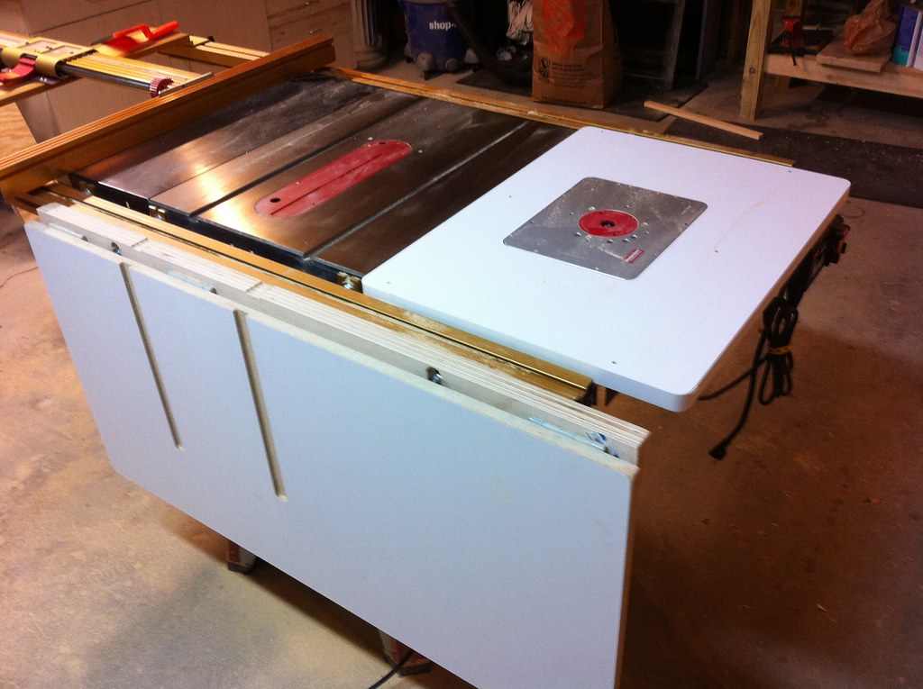 Table Saw Folding Outfeed Table Dczward Flickr