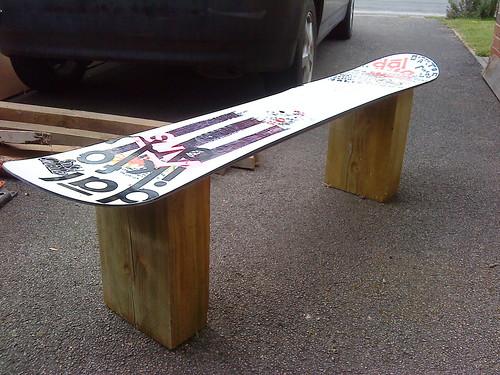 snowboard bench plans