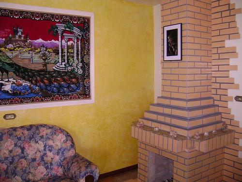 Sala de estar com lareira pintura de sala de estar e for Sala de estar pintura