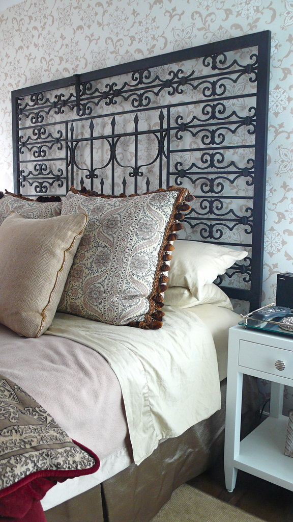 Repurposed Metal Gate Into A Headboard Froy S I Made