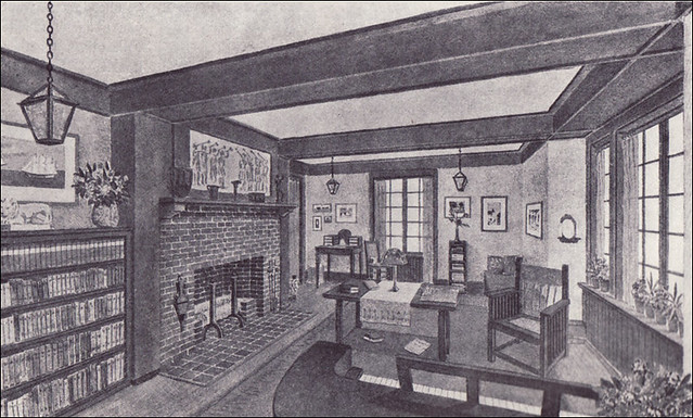 1910 Living Room - Craftsman Style | Source: Ladies Home ...