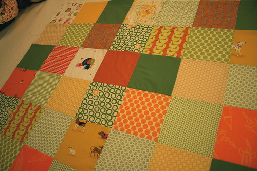 Baby Quilt Top closer | by alissahcarlton