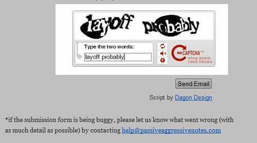 Captcha is not very sensitive to the current state of our economy. | by passiveaggressivenotes
