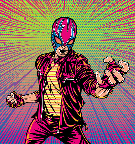 Punk Lucha Libre Wrestler Art | Arwork that I did for a ...