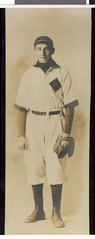 Abraham Levin in his Hamline University baseball uniform | by Jewish Historical Society of the Upper Midwest
