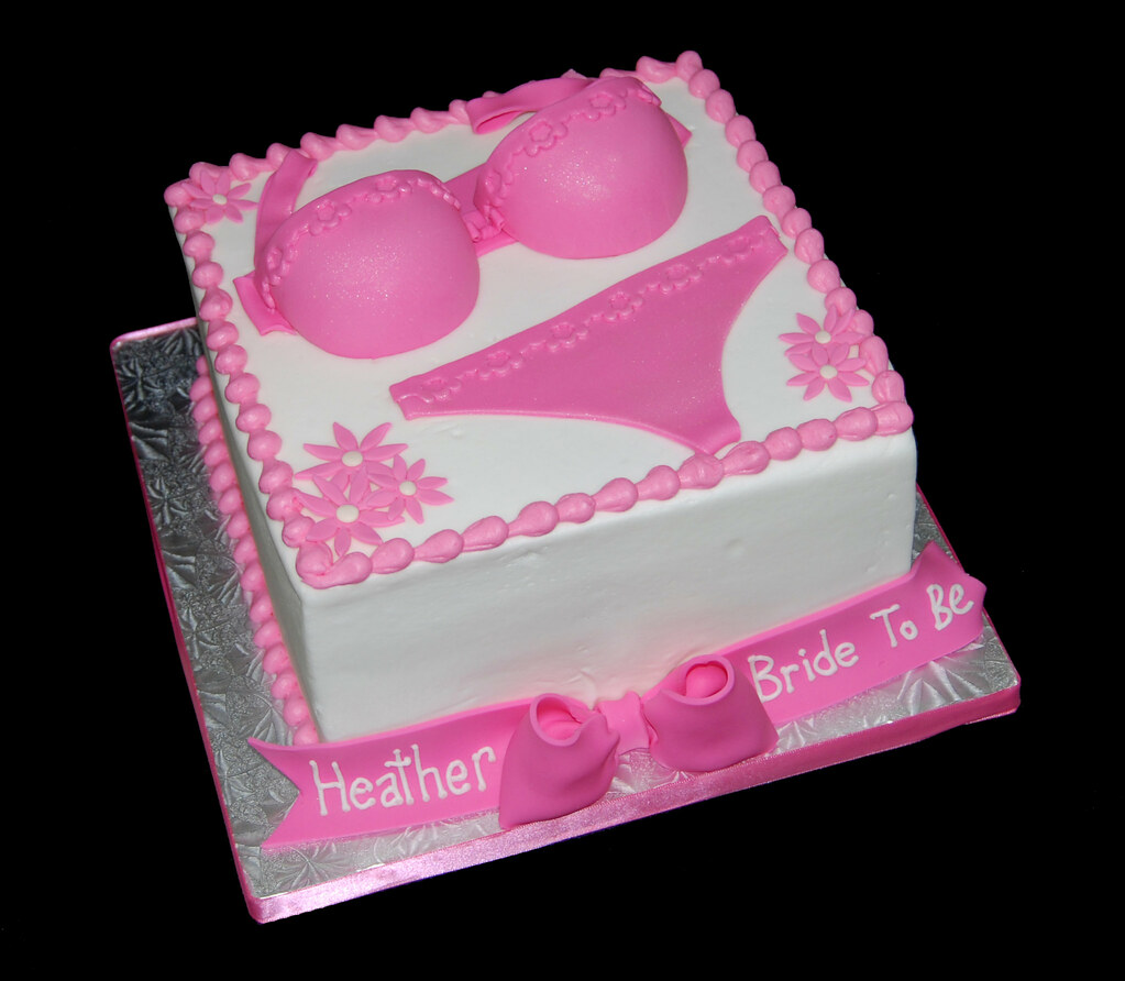 pink lingerie bridal shower cake by sweet shoppe mom and simply sweets