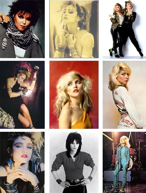 1980s Fashion Icons Top Left To Right Joan Jett Madonn Flickr