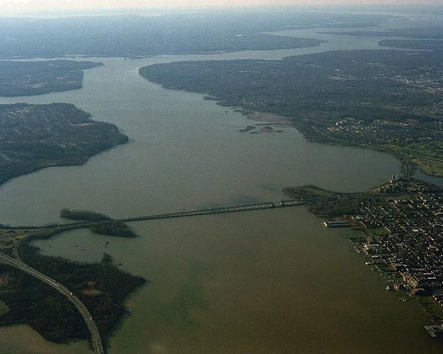 Potomac River Virginia A View Of The Potomac River As