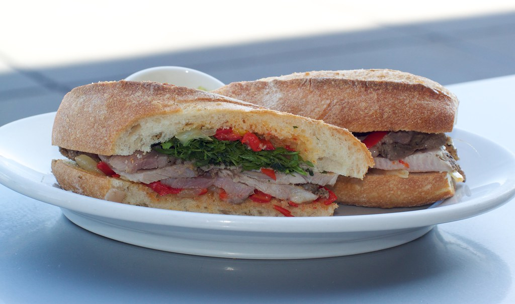 Porchetta sandwich | Long & Bailey farm porchetta sandwich w ...