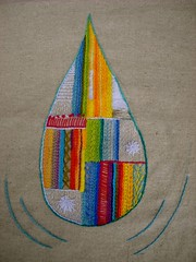 embroidered teardrop | by kat coyle
