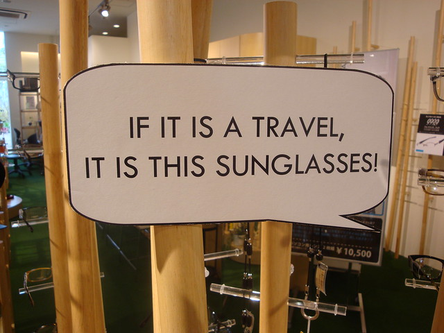 IF IT IS A TRAVEL, IT IS THIS SUNGLASSES!