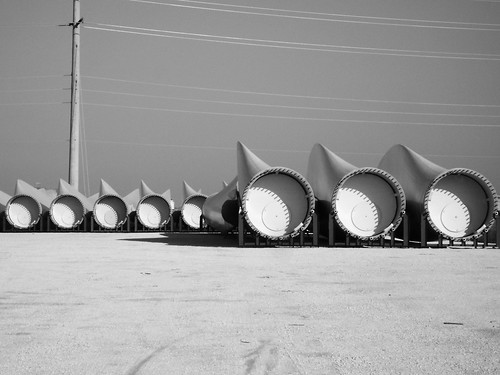 Wind Turbine Blades, Freeport, Texas 0306101611BW | by Patrick Feller