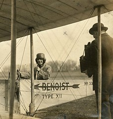 Unidentified woman sitting in the cockpit of a Benoist Type XII airplane, ca. 1912 | by Missouri Historical Society