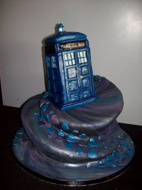 TARDIS Dr Who wedding cake Wedding cake with a differenc Flickr
