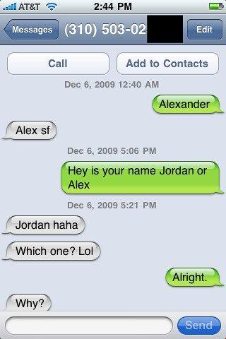 iPhone text screenshot | ajmudge | Flickr