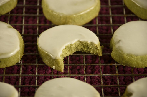 Glazed Green Tea and Ginger Shortbreads | by djwtwo