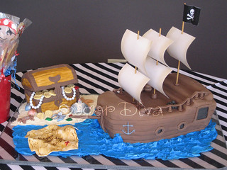 Pirate Theme Birthday Cakes | by Sugar Diva