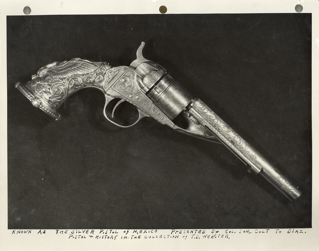 colt model 1862 pocket navy silver plated engraved with flickr