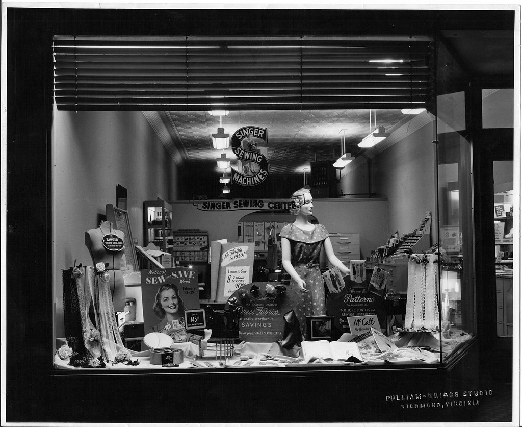 Singer Sewing Center Store Window 1950 This Was The