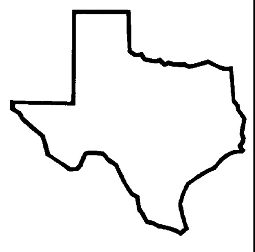 texas outline for tattoo