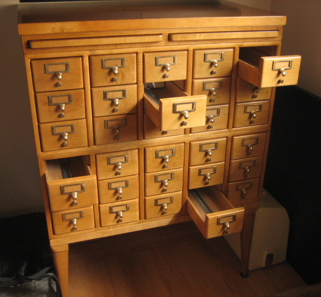 library card catalog | blog post | madeBYwake | Flickr