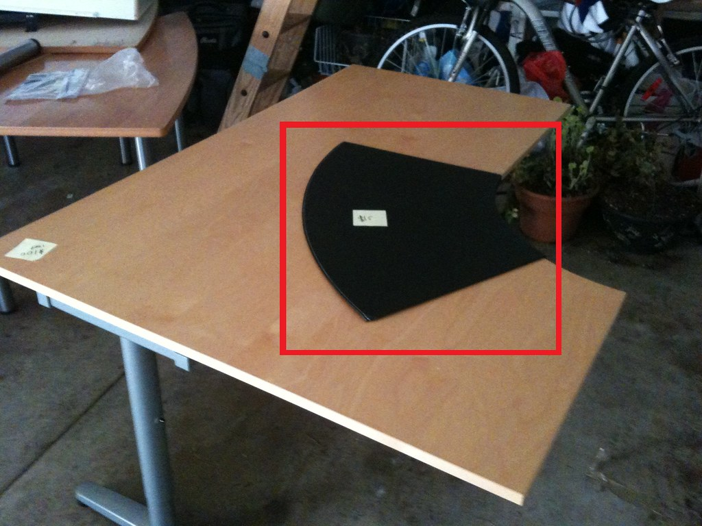 Black Desk Pad For Ikea Galant Desk 15 Width 86 Cm Depth Flickr