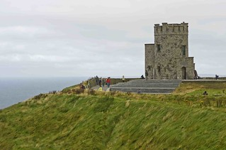 Ireland, an ancient castle at the cliff of Moher | by sanguedolces