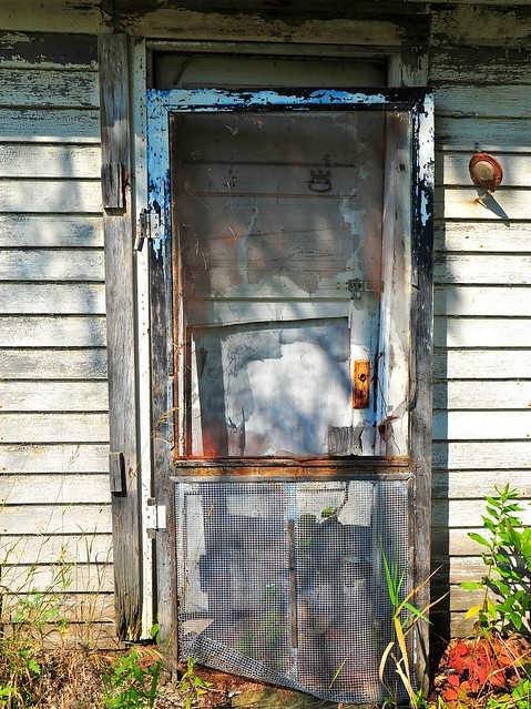 Going, going... | Kind of sad how the screen door was once ...