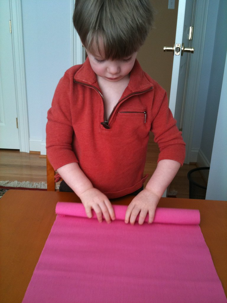 Rolling A Mat Since Almost Everything Montessori Is On A