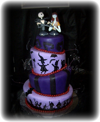 nightmare before christmas wedding cake by yummyville cakes