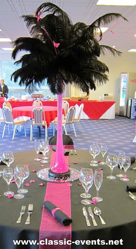 Classic Events Hot Pink Table Decoration Ostrich Feather