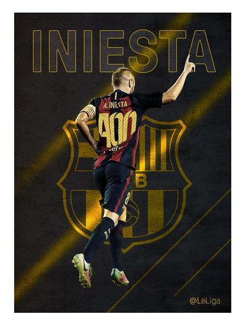 Andrés Iniesta: 400 paratidos en Liga