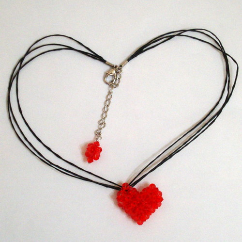 red heart necklace | by DimpleBijou