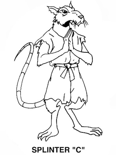 Tmnt 2003 coloring pages ~ { Canceled WB TMNT Show } // Splinter B/W (( 2001 )) | Flickr
