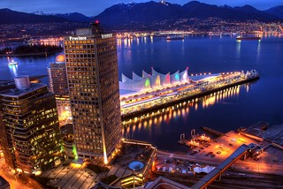 Vancouver Waterfront and the North Shore Mountains (HDR) | by Brandon Godfrey