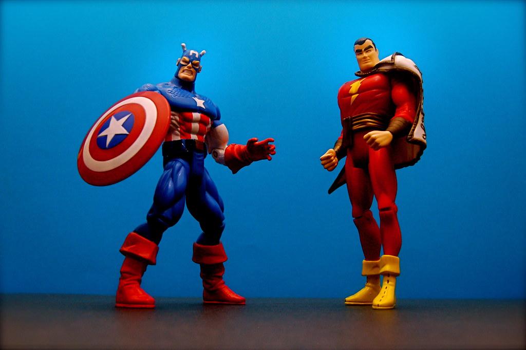 Captain America vs. Captain Marvel (42/365) | Captain