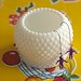 Milk glass sugar bowl / vase / storage space / earring hanger