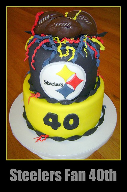 steelers birthday cake steelers fan 40th birthday this is for my bff s husband 7699
