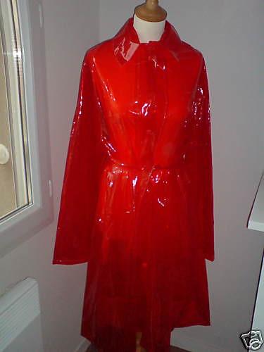 Red White Blue Clear Raincoat Pvc Vinyl Rainfash Flickr