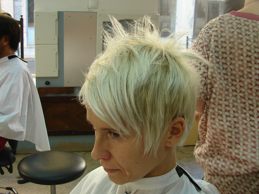 Short Blond Hair Cut Haircut By Jezz Motor Hairportc Wip