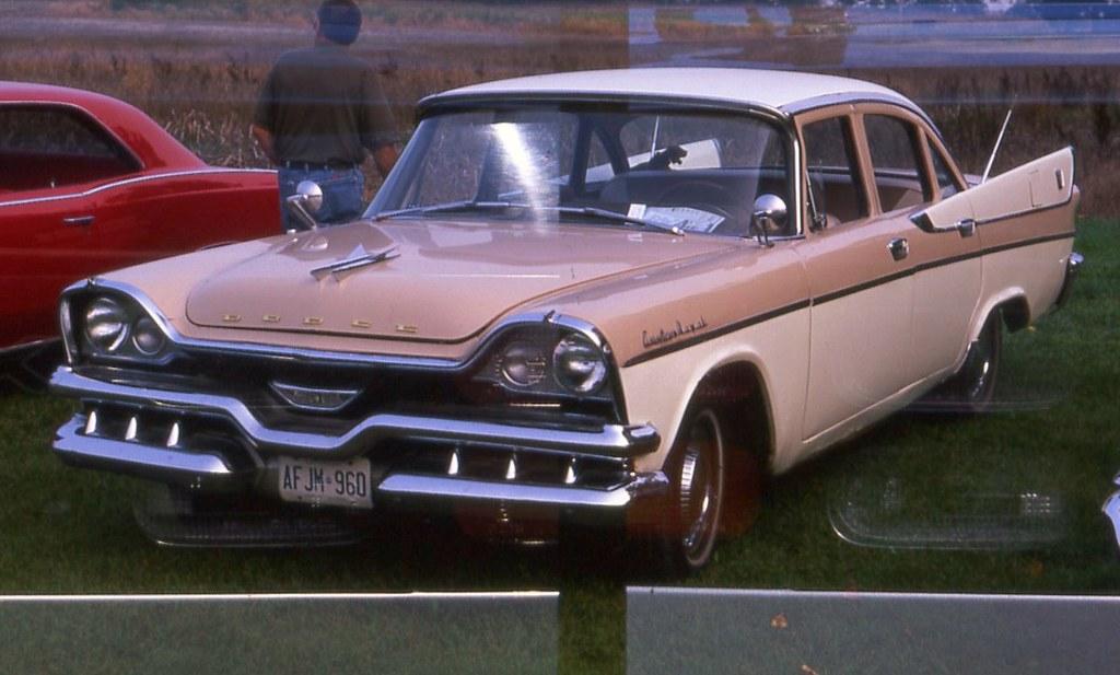 1957 Dodge Custom Royal 4 door | Double exposure film ...  1957 Dodge Cust...