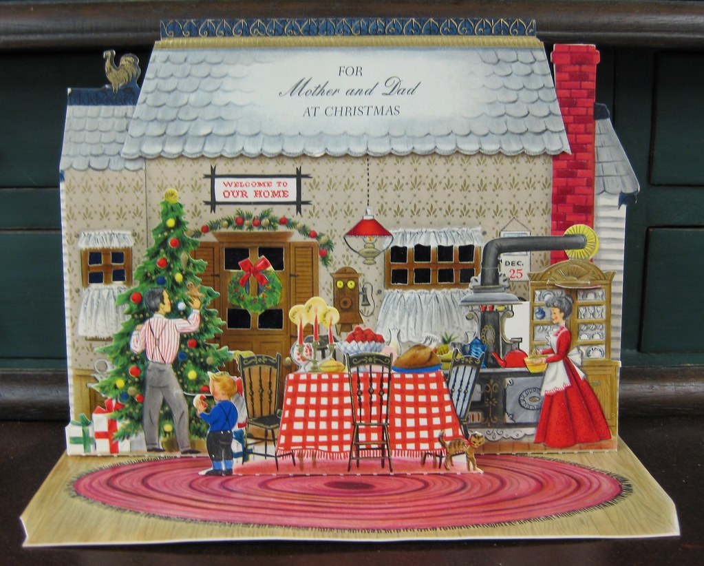 Vintage Hallmark Pop-up Christmas Card | From a collection o… | Flickr
