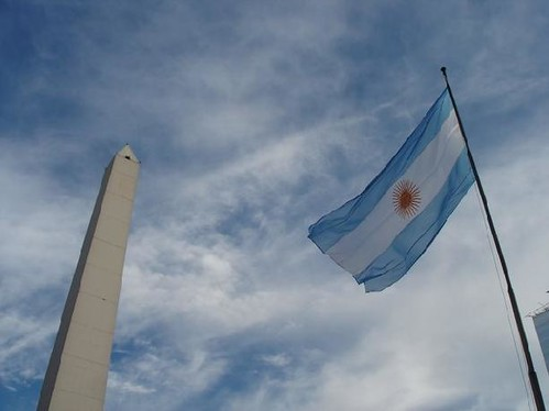 The Obelisk and the Argentinian flag - Buenos Aires | by budgetplaces.com